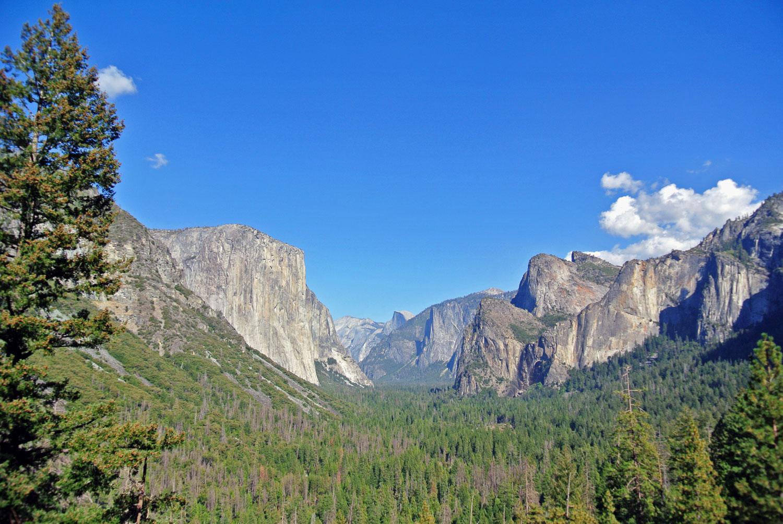 Ausblick vom Tunnel View im Yosemite National Park